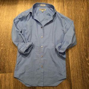 Express fitted dot print shirt